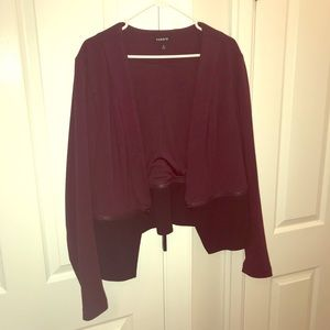 Torrid Wine and black blazer, Size 2
